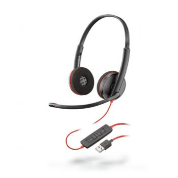 Plantronics Blackwire 3220 USB-A Over The Head Binaural Corded Headset