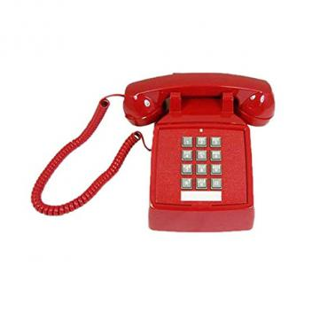 Cortelco Desk Telephone with Volume - RED