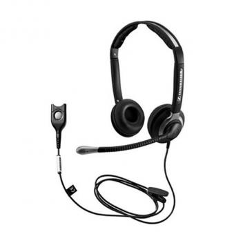 Sennheiser CC550IP Wideband, Duo Headset with Ultra-Noise Cancelling Mic and Extra Large Ear Cushions