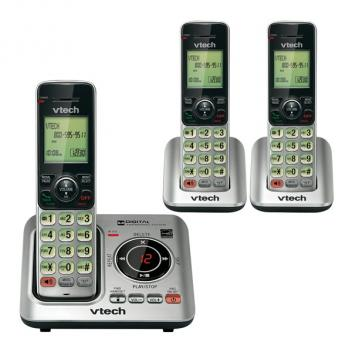 Vtech VT-CS6629-3 DECT 6.0 Expandable Cordless Phones - 3HS