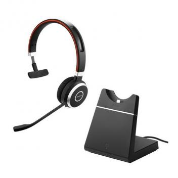 Jabra Evolve 65 Mono USB MS Bluetooth Headset with Charging Stand