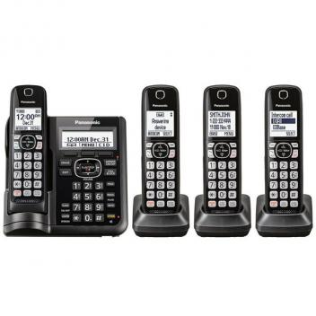 Panasonic KX-TGF544B 4HS Cordless Handsets with Answering Machine