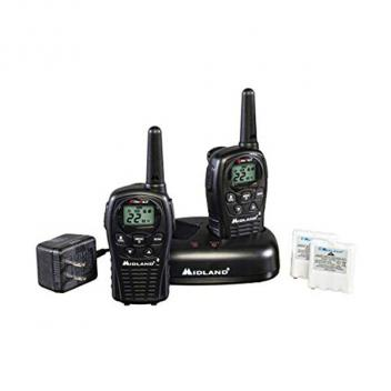 Midland Radio GMRS 2-Way Radio (Up to 24 miles) Black