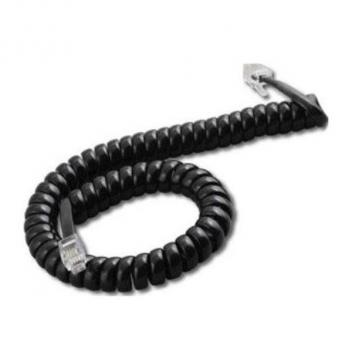 Walker Handset Cord 6 Conductor Modular to Modular 15 Ft. Black