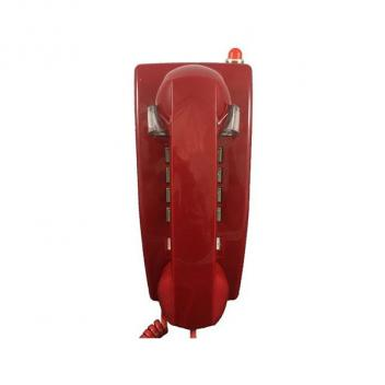 Cortelco Wall Phone with Message Light - Red