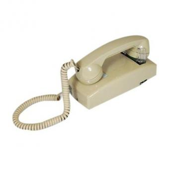 Cortelco No Dial Wall Phone - Ash