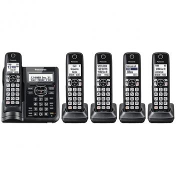 Panasonic KX-TGF545B Caller ID Dual Keypad Cordless Handsets
