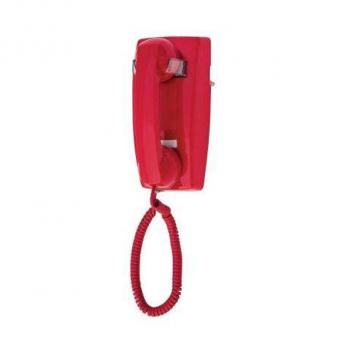 Cortelco No Dial Wall Phone Red