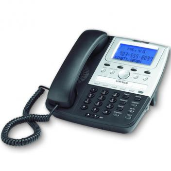 Cortelco Feature 2-Line Black Telephone