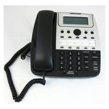 Cortelco Feature 4-Line Telephone - Black