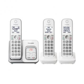Panasonic KX-TGD433W 3 HS Expandable Cordless Phones