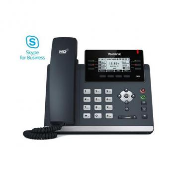 Yealink YEA-100-042-003 T42S IP Skype for Business Corded Phone