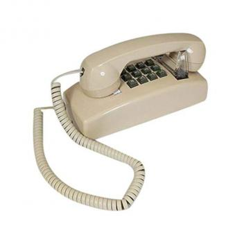 Cortelco Wall Phone with Flash/Message- Ash