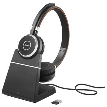Jabra Evolve 65 Stereo USB UC Bluetooth Headset with Charging Stand