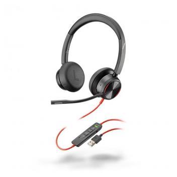 Plantronics Blackwire 8225M USB-A Corded Headset - Black