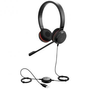 Jabra Evolve 30 Duo/Stereo USB Corded Headset Microsoft Lync/OC