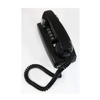 Cortelco Wall Telephone with Volume - Black