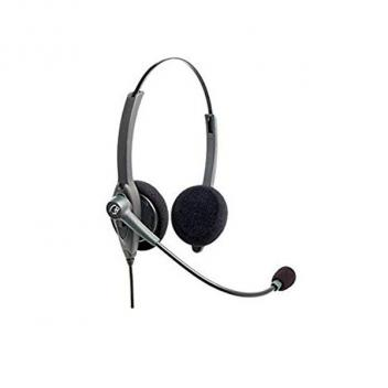 VXI Passport 21V DC Over-the-head Binaural Headset With DC N/C Microphone - Bulk
