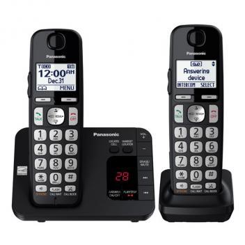 Panasonic KX-TGE432B 2 HS Expandable Large Keypad Cordless Phones