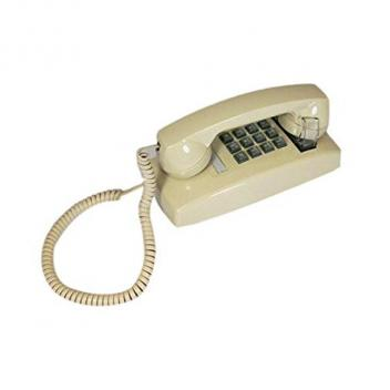 Cortelco Wall Phone with Volume - Ivory