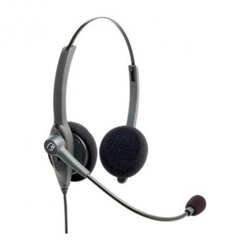VXI Passport 21P DC Over-the-head Binaural Headset with DC N/C Microphone - Box