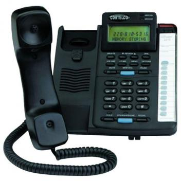 Cortelco Colleague with CID Black Telephone