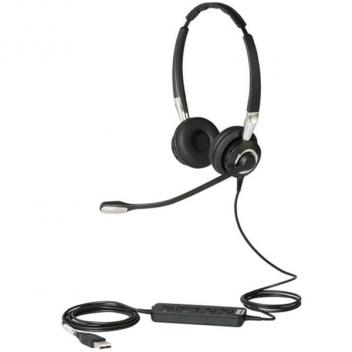 Jabra BIZ 2400 II Duo USB Wired Headset with NC Mic for Microsoft Lync