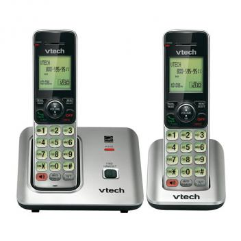 Vtech VT-CS6619-2 DECT 6.0 Expandable Cordless Phone- 2HS