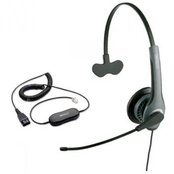 Jabra GN2010 Mono Corded Headset with GN1200 Cable