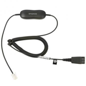 Jabra GN1200 Smart Cord, QD to RJ9 6' Coiled Direct Connect Cord